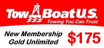 TowBoatUs Gold Unlimited Towing $175